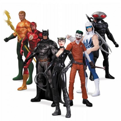 Justice League New 52 Figures - Super Heroes Vs Super Villains 7-Pack Box Set