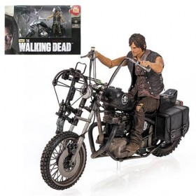 Walking Dead TV Series Daryl Dixon Action Figure and Motorcycle Deluxe Box Set