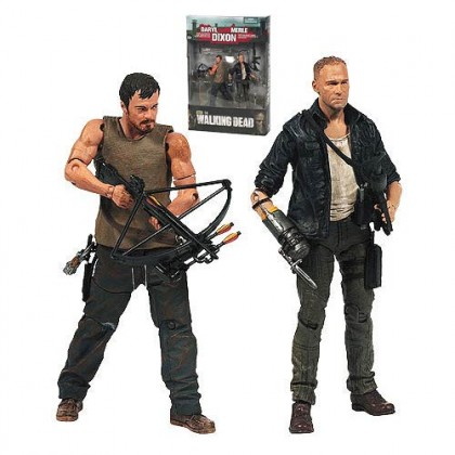 Walking Dead TV Series Merle and Daryl Dixon Action Figure 2-Pack