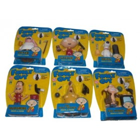 Family Guy Set of 6 Create-A-Figure (Death)
