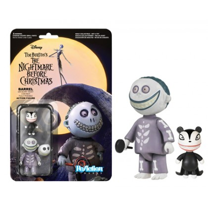 Nightmare Before Christmas: Barrel ReAction 3 3/4-Inch Retro Action Figure