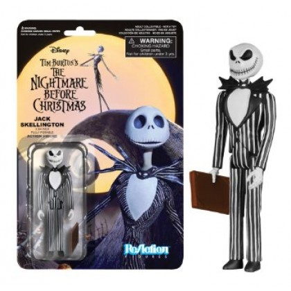 Nightmare Before Christmas: Jack Skellington Alt Face ReAction 3 3/4-Inch Retro Action Figure