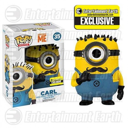 Despicable Me 2 Mustache Carl Pop! Vinyl Figure - Entertainment Earth Exclusive