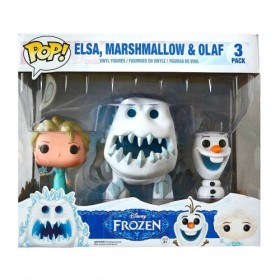 Frozen Elsa, Marshmallow, & Olaf Pop! Vinyl Figure Exclusive