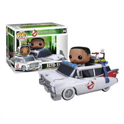 Ghostbusters Winston Zeddemore and Ecto-1 Pop! Vinyl Vehicle