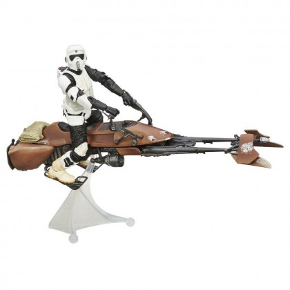 Star Wars The Black Series Speeder Bike and Biker Scout