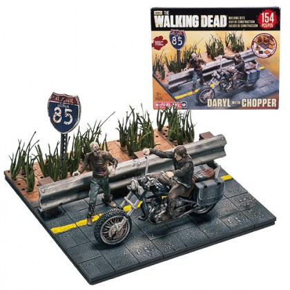 Walking Dead McFarlane Building Set:  Daryl Dixon with Chopper Mini-Figure