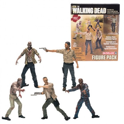 Walking Dead McFarlane Building Set: Mini-Figure 5-Pack